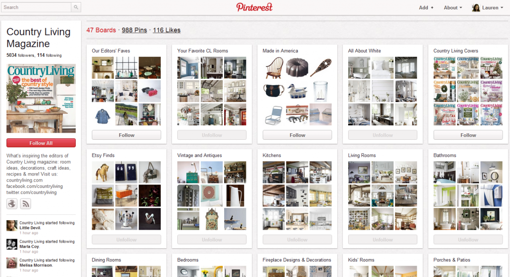 Pintrest Examples